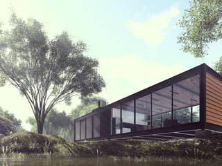 ミニマルな 家 の Cornetta Arquitetura ミニマル