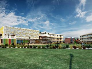 Colegio - Bogotá: Pasillos y vestíbulos de estilo  por Arquitectura y Diseño Digital