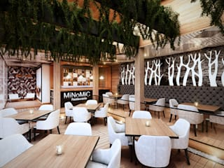 Restaurantes: Comedores de estilo moderno por Arquitectura y Diseño Digital
