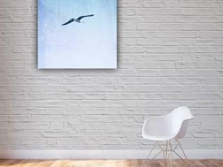 """Leinwand """"Dein Lebensglück ist wie ein Vogel"""" Klassische Wohnzimmer von www.momentaufnehmer.de Klassisch"""
