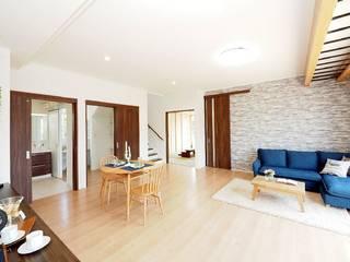 Live Sumai - アズ・コンストラクション - Modern living room Stone White