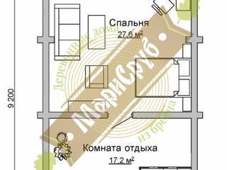 """Двухэтажная баня с террасой, комнатой отдыха, парной и душевой """"Аврора"""" Спа в классическом стиле от Марисруб Классический"""