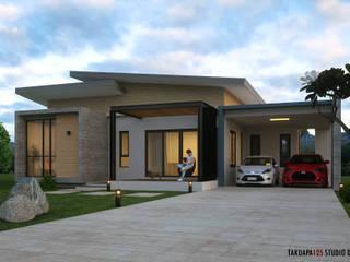 Modern houses by Takuapa125 Modern