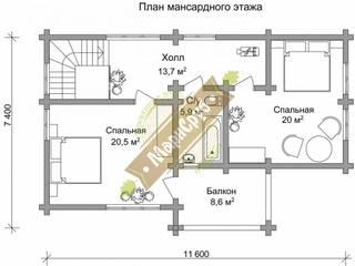"""Баня из бревна с террасой, комнатой отдыха и бассейном """"Царская"""" Спа в классическом стиле от Марисруб Классический"""