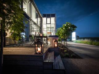 Firmensitz von Fenster-Schmidinger in Gramastetten / Oberösterreich Schmidinger Wintergärten, Fenster & Verglasungen Moderne Bürogebäude Glas Transparent