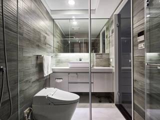 木紋磚鋪陳浴室的休閒溫潤質感 青瓷設計工程有限公司 Modern style bathrooms