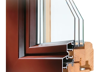 Schnitt Holz-Aluminium-Fenster Schmidinger Wintergärten, Fenster & Verglasungen Klassische Fenster & Türen Aluminium/Zink Blau