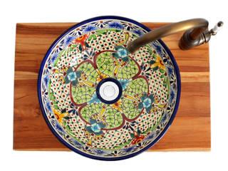 Buntes Mexikanisches Waschbecken mit floralem Muster:   von Mexambiente e.K.