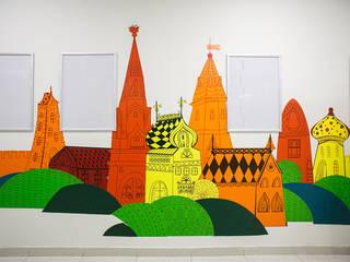 """Рисунки на стенах и навигация торгового центра """"Купец"""" Торговые центры в эклектичном стиле от 33dodo Эклектичный"""