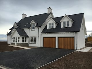 Plot 4, The Views, Gallaton, Stonehaven, Aberdeenshire Roundhouse Architecture Ltd モダンな 家 白色