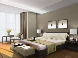 Спальни такие разные Спальня в стиле минимализм от Priores Studio Минимализм