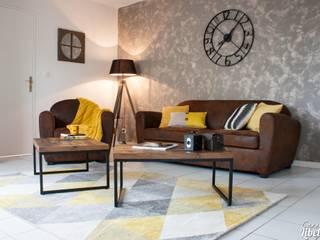 Salon industriel: Salon de style de style Industriel par Carnets Libellule