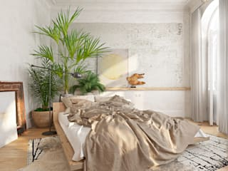 Eclectic style bedroom by Анна Морозова Eclectic