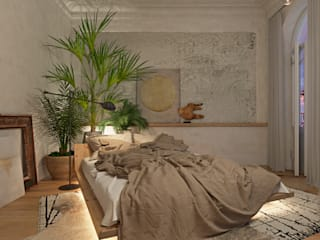 Tropical style bedroom by Анна Морозова Tropical