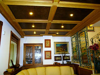 Gli Artigiani dei f.lli M.& S. Cordi snc Vestíbulos, pasillos y escalerasAccesorios y decoración Madera Marrón