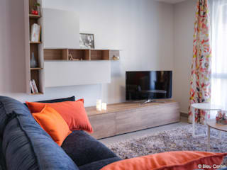 Appartement chic et coloré Salon moderne par Bleu Cerise Moderne