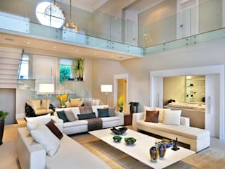 Living room by Quitete&Faria Arquitetura e Decoração