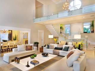 Quitete&Faria Arquitetura e Decoração 现代客厅設計點子、靈感 & 圖片