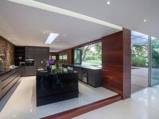 Johannesburg Forrest House: minimalistic Kitchen by Karel Keuler Architects