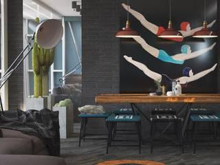 Прихожая/ столовая в лофте Столовая комната в стиле лофт от DS Fresco Лофт