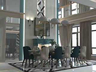 Зона со вторым светом Столовая комната в классическом стиле от DS Fresco Классический