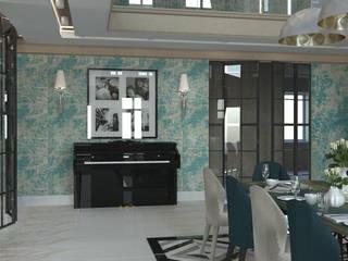 Зона со вторым светом Коридор, прихожая и лестница в классическом стиле от DS Fresco Классический