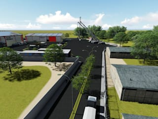 Renderizado de instalaciones Administrativas y operativas de iA Soluciones de Ingeniería y Aquitectura