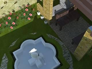 Pequeno Jardim com Pergolado : Jardins  por Ellen Musatto