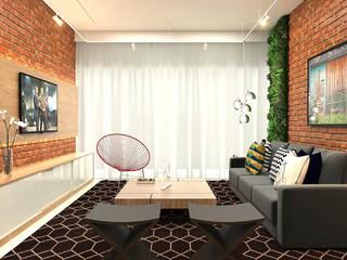 Livings de estilo ecléctico de Bruna Rodrigues Designer de Interiores Ecléctico