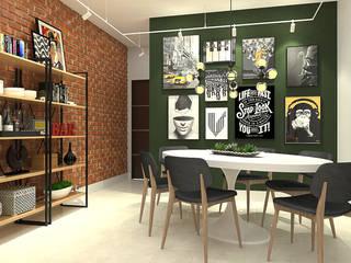 Comedores de estilo ecléctico de Bruna Rodrigues Designer de Interiores Ecléctico