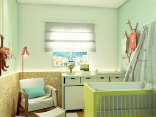 Nursery/kid's room by Bruna Rodrigues Designer de Interiores, Eclectic