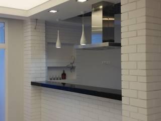Белый лофт: Кухни в . Автор – SelenaDesign, Лофт
