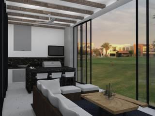 TAMEN arquitectura Modern style balcony, porch & terrace