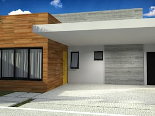 Fachada: Casas  por Guilherme Abreu Arquitetura