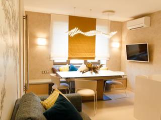 Мягкий минимализм. Кухня-столовая Столовая комната в стиле минимализм от Guzel Gimaeva Interior Design Минимализм