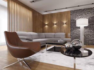 Интерьер квартиры HOME PREMIUM Гостиная в стиле минимализм от ASTER DECO Минимализм