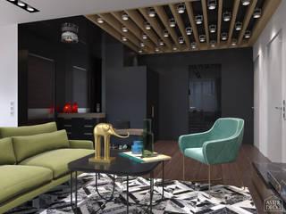 Квартира в стиле 60-х Гостиные в эклектичном стиле от ASTER DECO Эклектичный