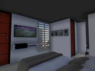 ARQUITECTO JUAN ANDRES GUTIERREZ PEREZ Minimalistische Schlafzimmer