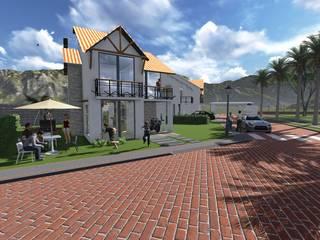 ARQUITECTO JUAN ANDRES GUTIERREZ PEREZ Rustic style house