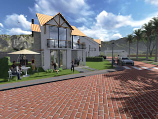 ARQUITECTO JUAN ANDRES GUTIERREZ PEREZ Rustikale Häuser