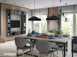 MIKOŁAJSKAstudio Industrial style dining room