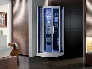 Cabina de Ducha Hiromasaje con Vapor y Ozono:  de estilo  por Picazzo Sanitarios