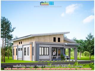 แบบบ้านชั้นเดียว HPI-01B โดย แบบแปลนบ้านสำเร็จรูป