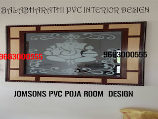 balabharathi pvc interior design Modern Windows and Doors Plywood Wood effect