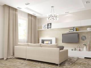 3-х комнатная квартира в Подмосковье: Гостиная в . Автор – Yana Ikrina Design