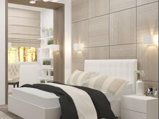 3-х комнатная квартира в Подмосковье: Спальни в . Автор – Yana Ikrina Design