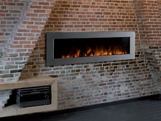Electric Fires Modern living room by The Platonic Fireplace Company Modern