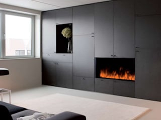 Electric Fires Modern style bedroom by The Platonic Fireplace Company Modern