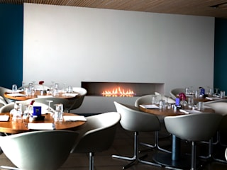 Commercial Fireplaces Modern gastronomy by The Platonic Fireplace Company Modern