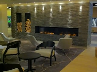 Commercial Fireplaces Modern airports by The Platonic Fireplace Company Modern
